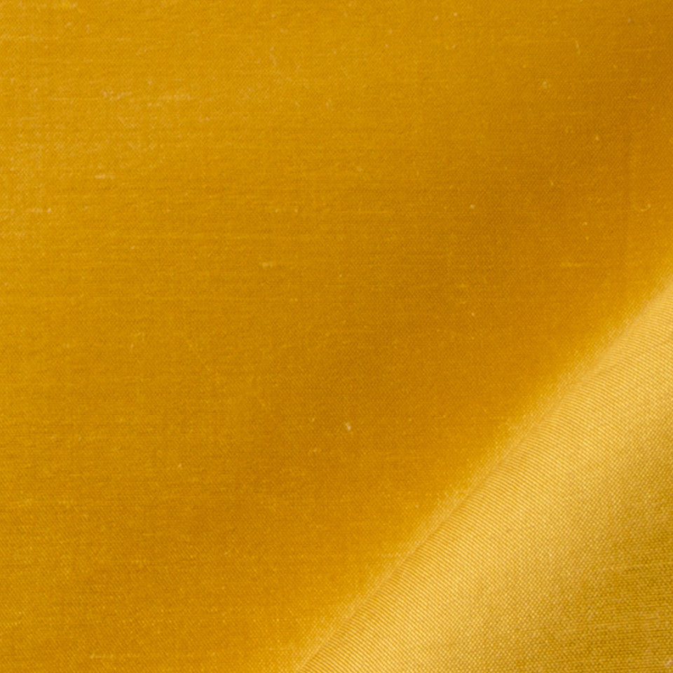 SILK SOLIDS Mysore Silk Fabric - Mango