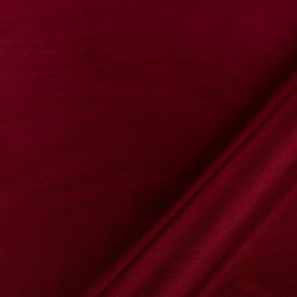 SILK SOLIDS Mulberry Silk Fabric - Wine
