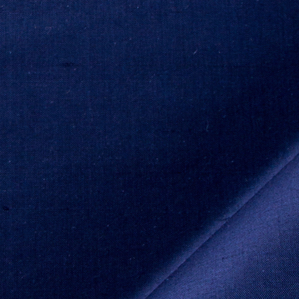 SILK SOLIDS Mysore Silk Fabric - Navy