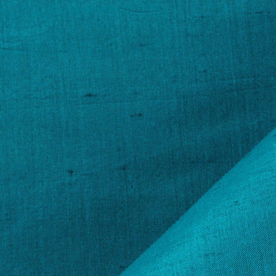 SILK SOLIDS Mysore Silk Fabric - Neptune