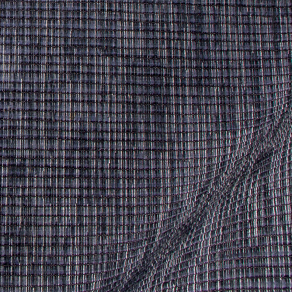 SILK SOLIDS Pattu Ottoman Fabric - Indigo