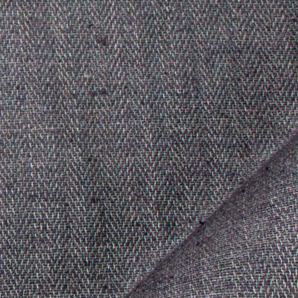 SILK SOLIDS Tussah Silk Fabric - Coal
