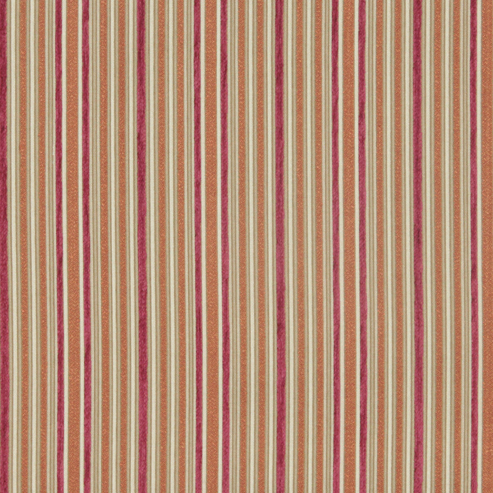 CRYPTON MODERN UPHOLSTERY Soft Roads Fabric - Rhubarb