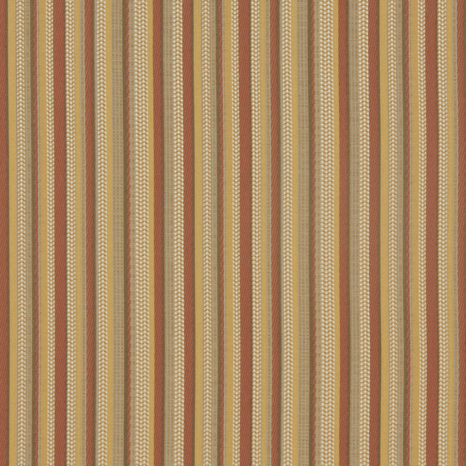 CRYPTON MODERN UPHOLSTERY Narrow Roads Fabric - Orange Ochre