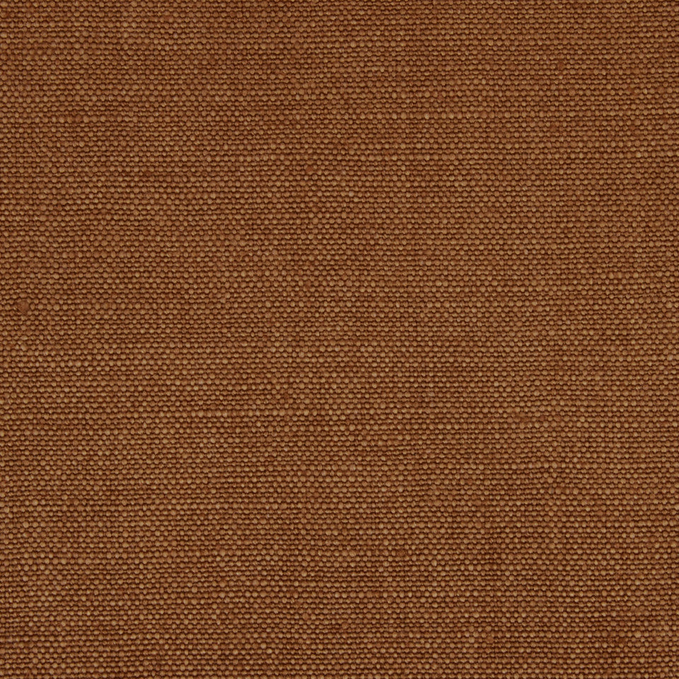 LINEN SOLIDS Linseed Solid Fabric - Leather Brown