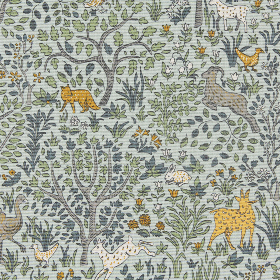 DWELLSTUDIO DECORATIVE MODERN Folkland Fabric - Aquatint