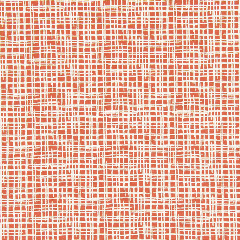 DWELLSTUDIO DECORATIVE MODERN Unravel Fabric - Persimmon