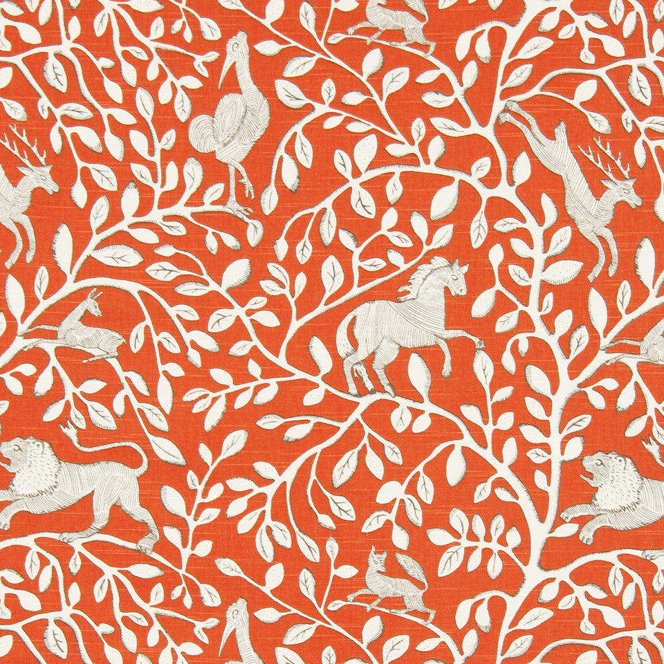 DWELLSTUDIO DECORATIVE MODERN Pantheon Fabric - Persimmon