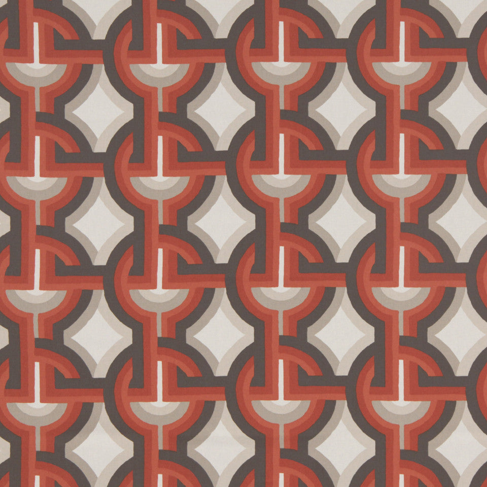 DWELLSTUDIO DECORATIVE MODERN Futura Fabric - Persimmon