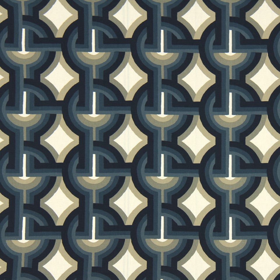 DWELLSTUDIO DECORATIVE MODERN Futura Fabric - Midnight