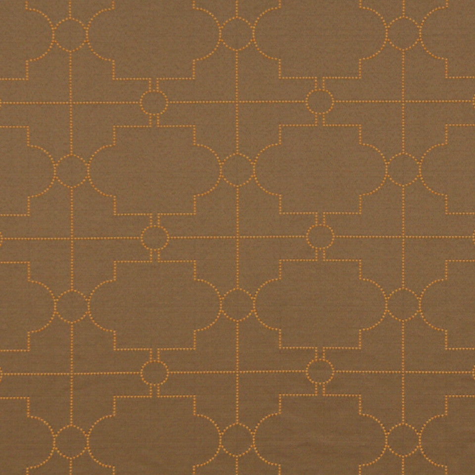 DWELLSTUDIO MODERN COUTURE Satin Trellis Fabric - Mink