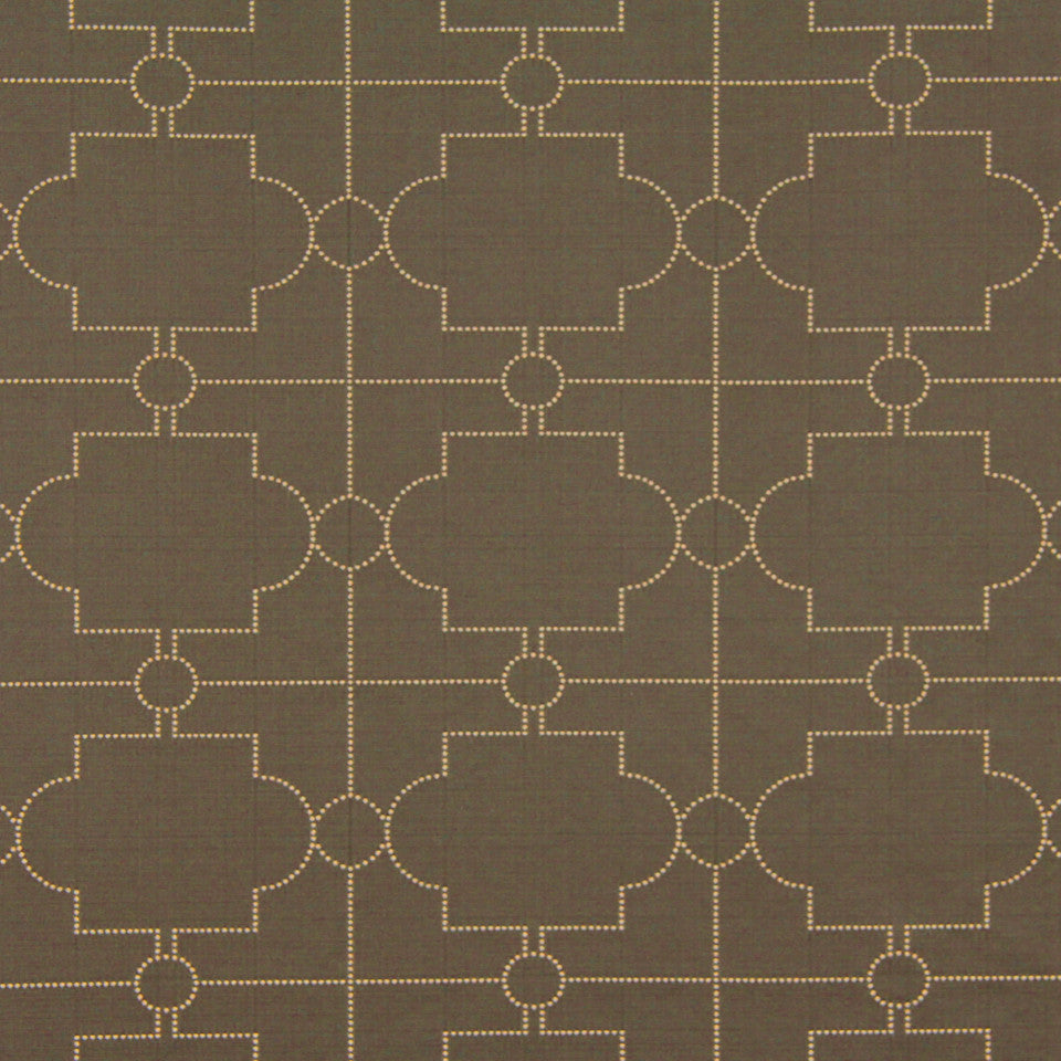 DWELLSTUDIO MODERN COUTURE Satin Trellis Fabric - Steel