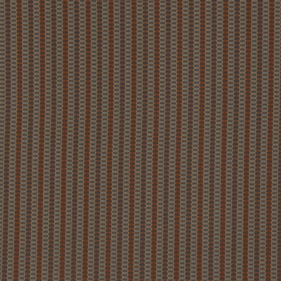 PERFORMANCE UPHOLSTERY/NANO-TEX  DURABLOCK/FAUX LEATHER Saddle Stitch Fabric - Walnut