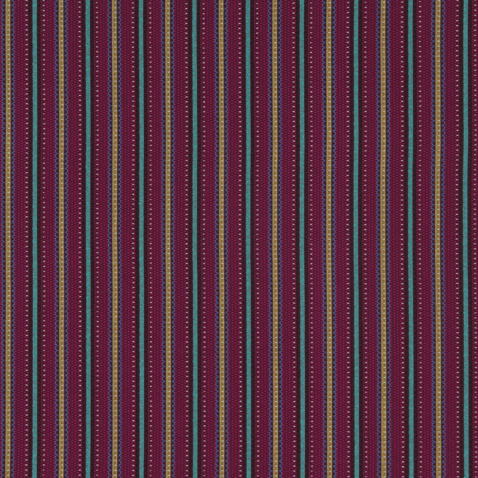CRYPTON MODERN UPHOLSTERY Scallop Stripe Fabric - Rhubarb