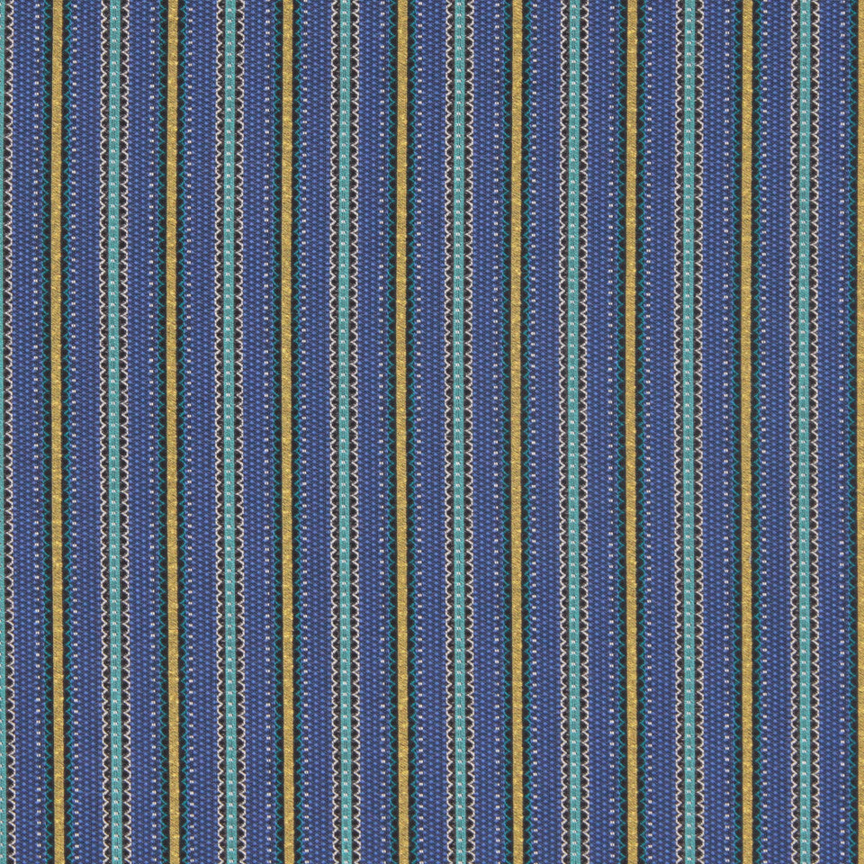 CRYPTON MODERN UPHOLSTERY Scallop Stripe Fabric - Cerulean