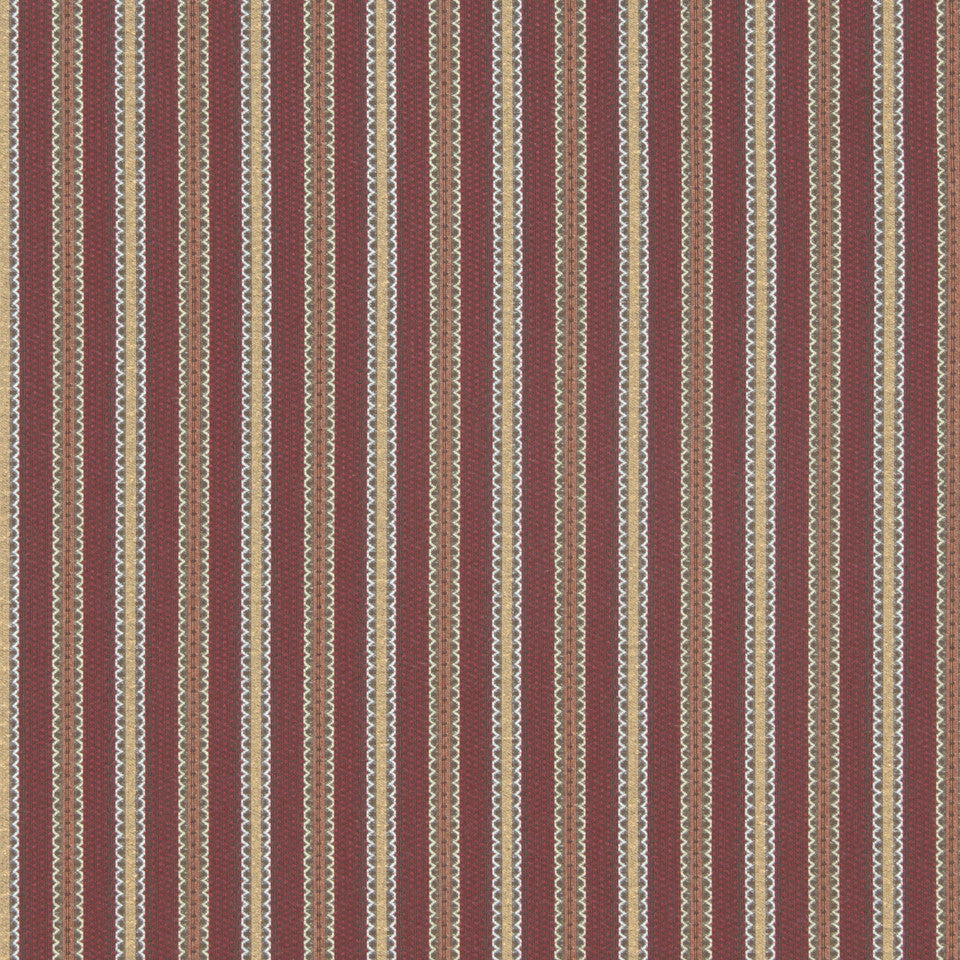 CRYPTON MODERN UPHOLSTERY Scallop Stripe Fabric - Morocco