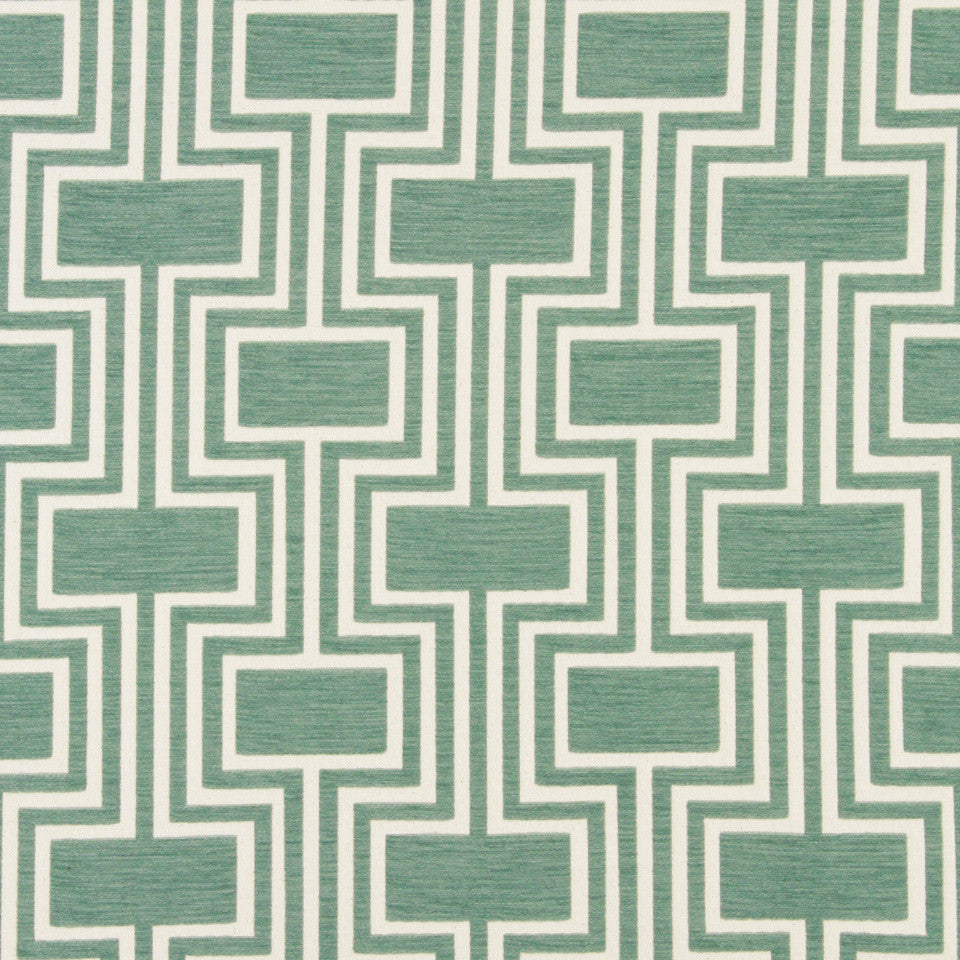 DWELLSTUDIO DECORATIVE MODERN Conduit Fabric - Aquatint