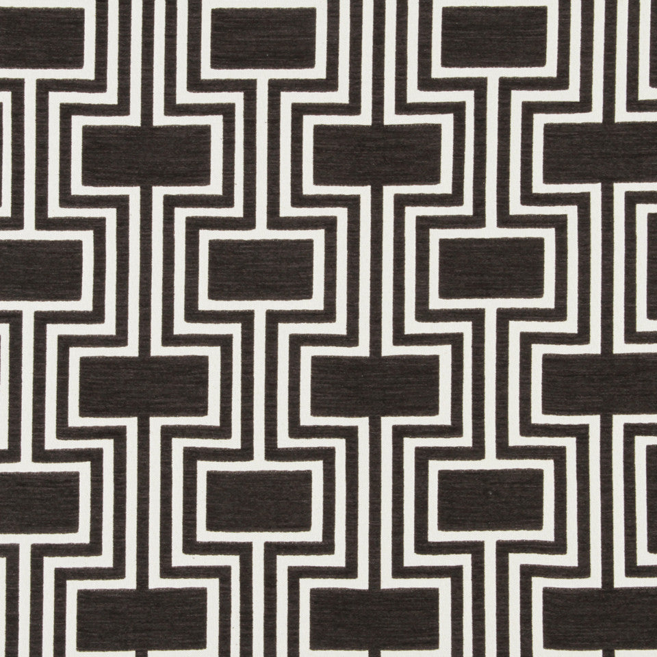 DWELLSTUDIO DECORATIVE MODERN Conduit Fabric - Espresso