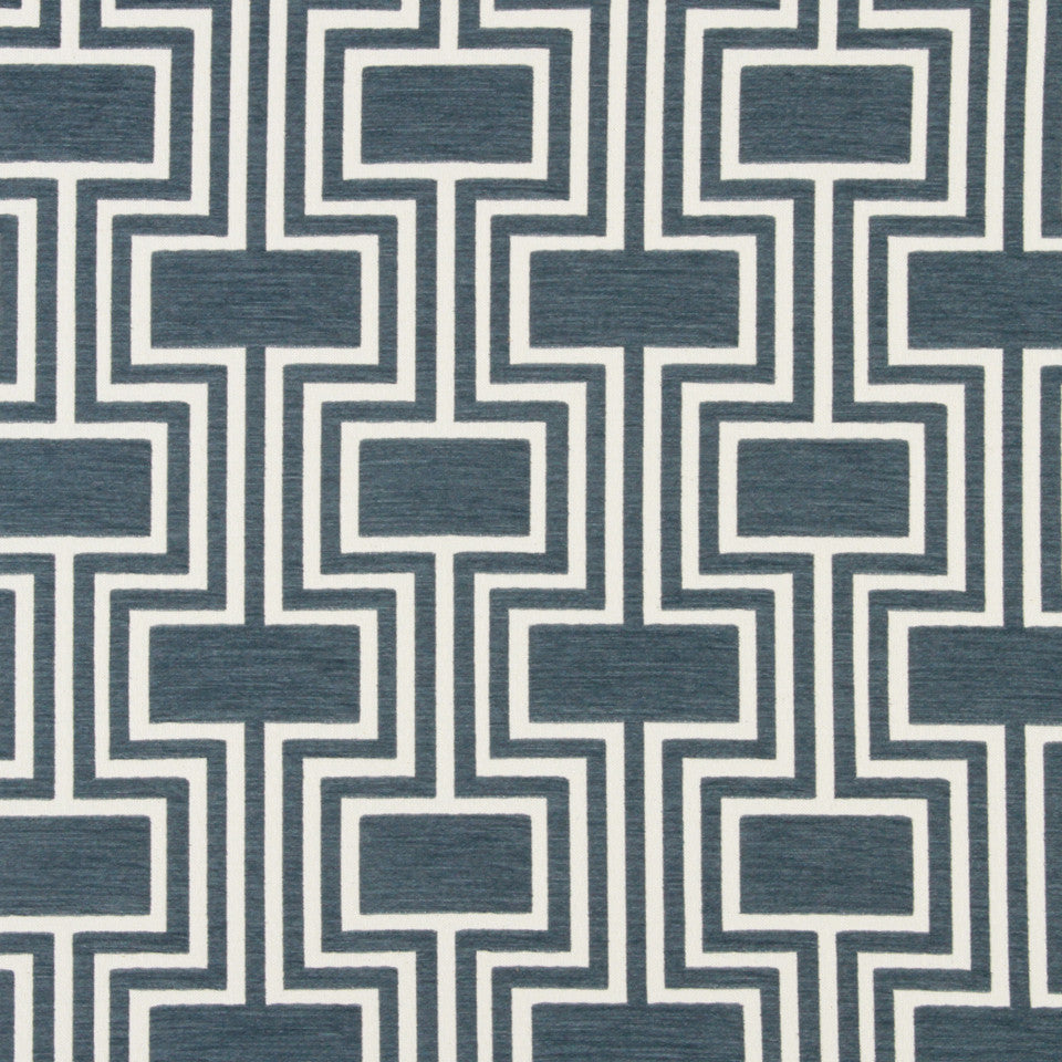 DWELLSTUDIO DECORATIVE MODERN Conduit Fabric - Midnight