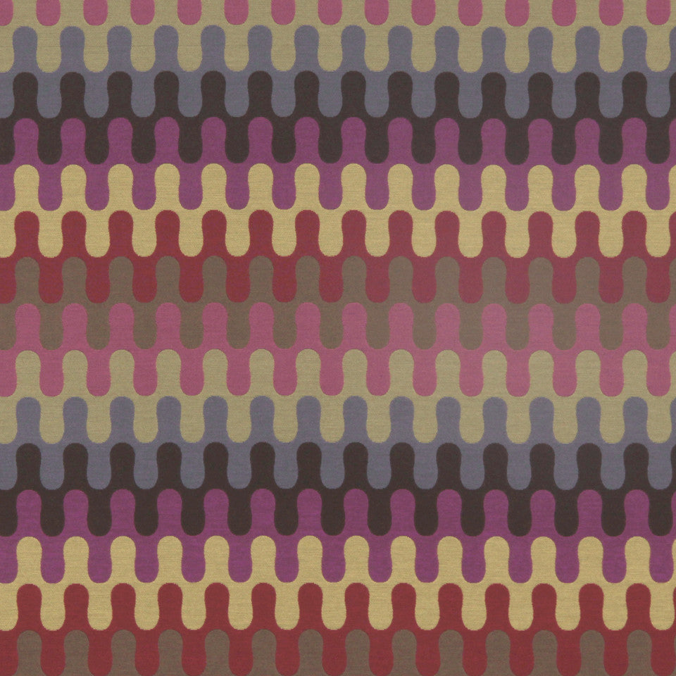 CRYPTON MODERN UPHOLSTERY Modern Puzzle Fabric - Tango