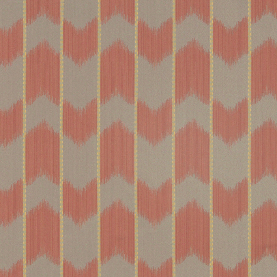 CRYPTON MODERN UPHOLSTERY Ikat Satin Fabric - Apricot