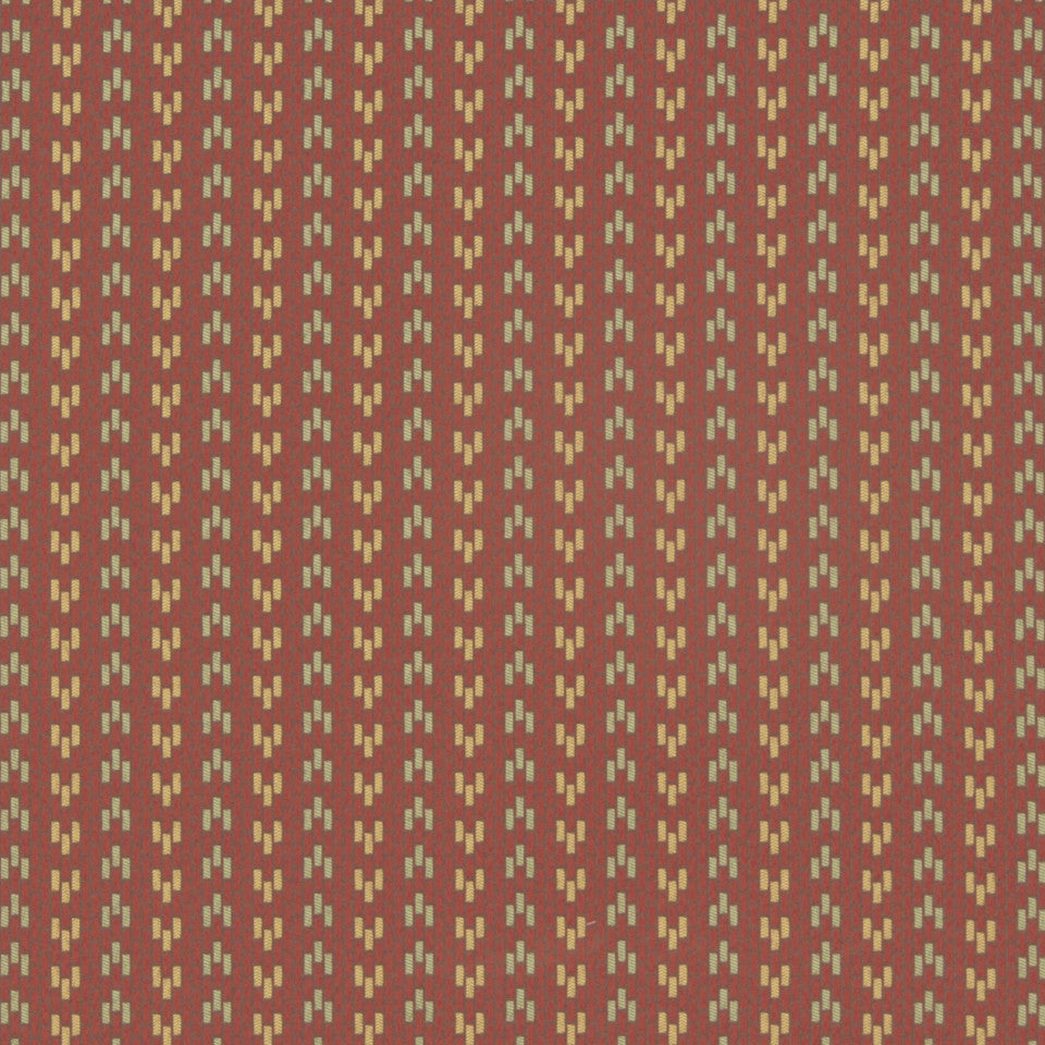 CRYPTON MODERN UPHOLSTERY Floor Plan Fabric - Orange Ochre