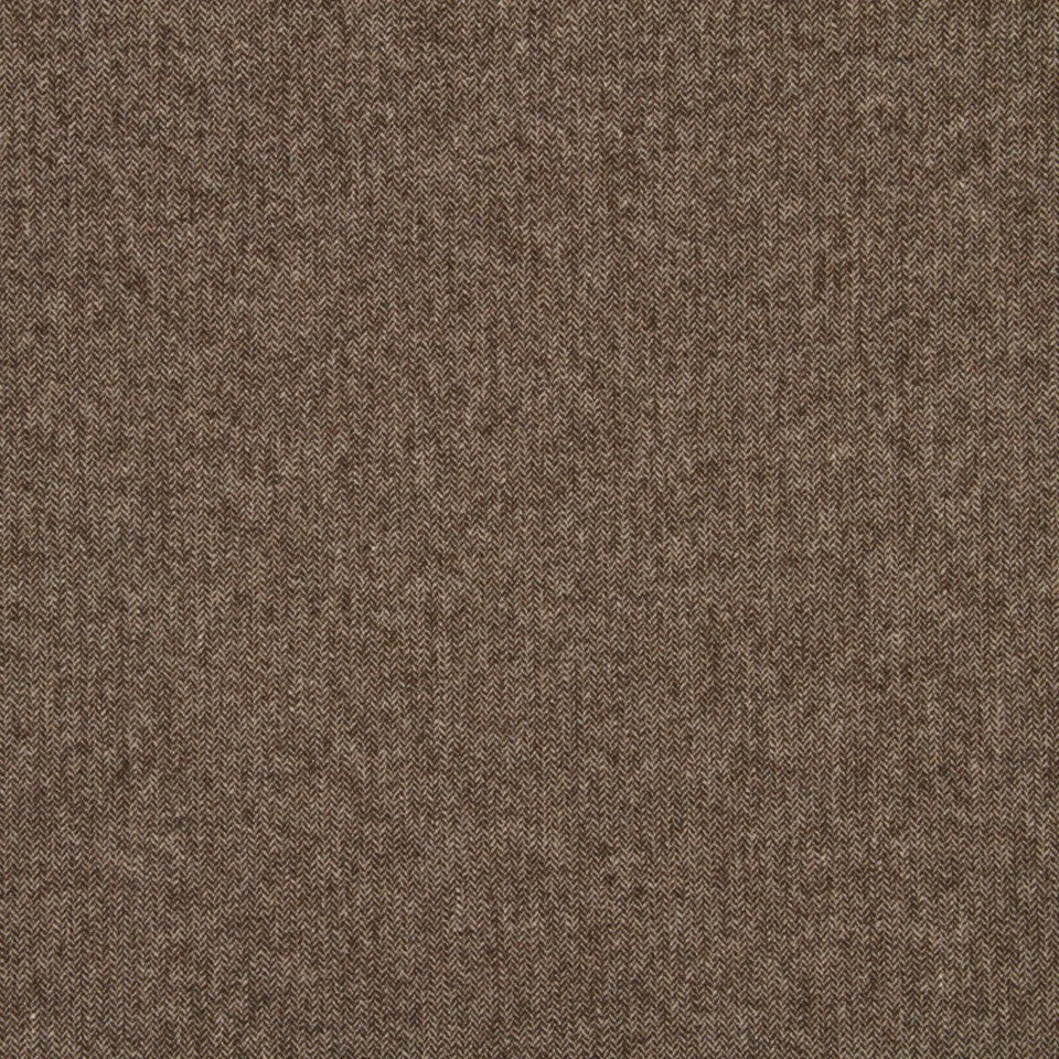 WOOL TEXTURES Wool Chevron Fabric - Espresso