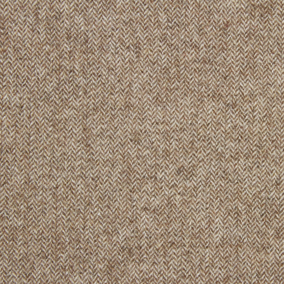 MICA Wool Chevron Fabric - Linen