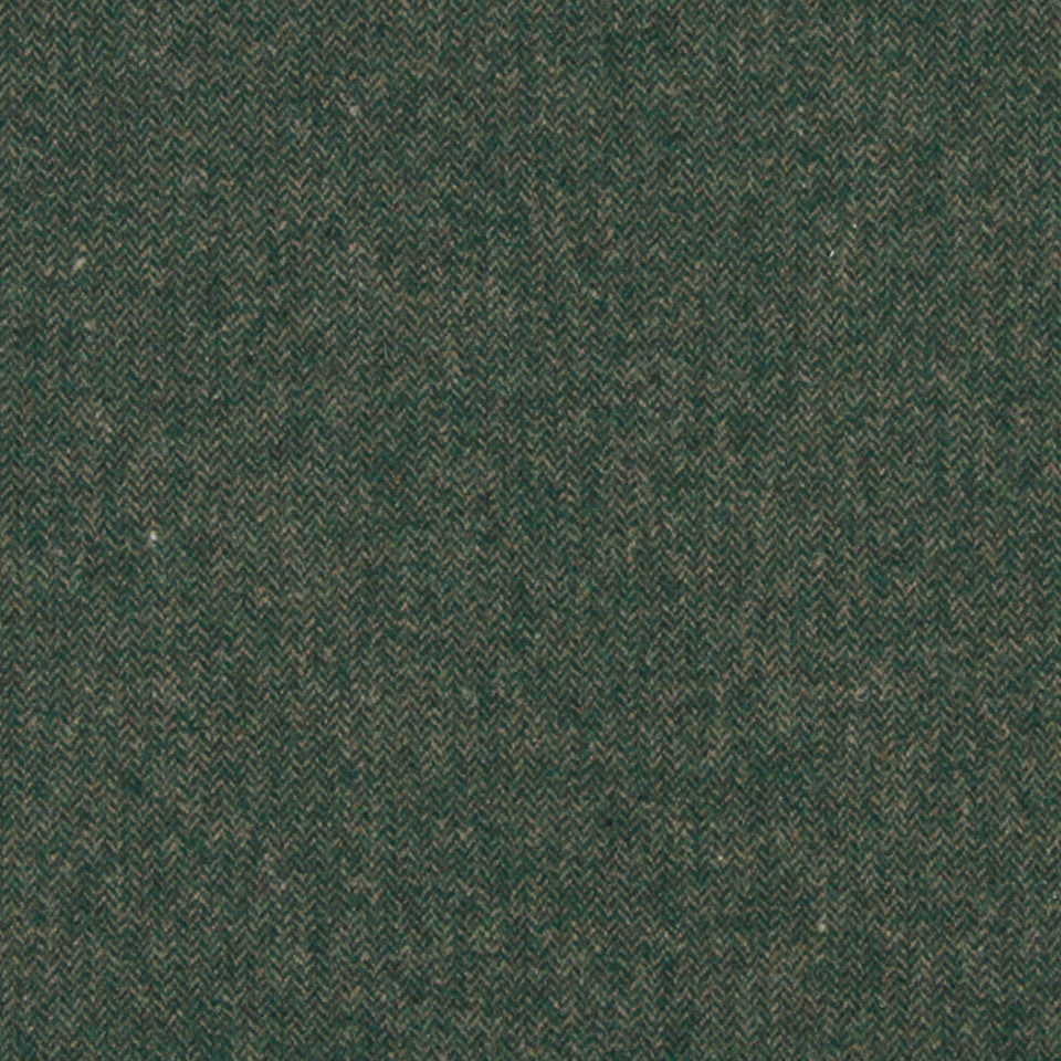 WOOL TEXTURES Wool Chevron Fabric - Billiard Green