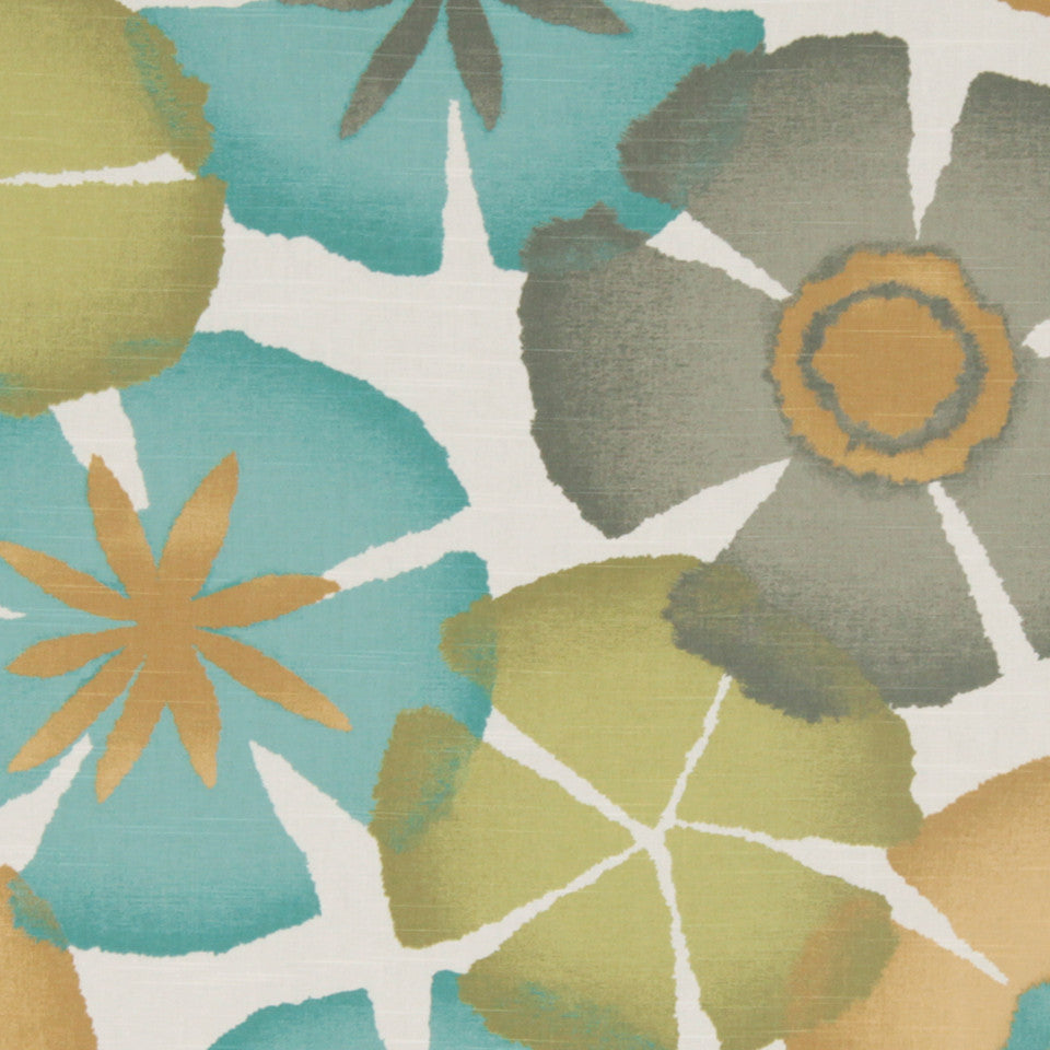 Pure Petals Fabric - Pool