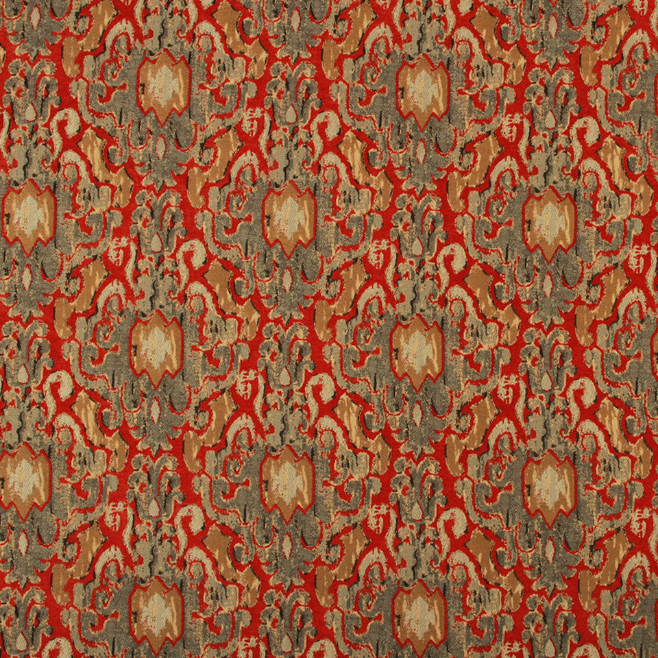 LACQUER RED Pagan Dynasty Fabric - Lacquer Red