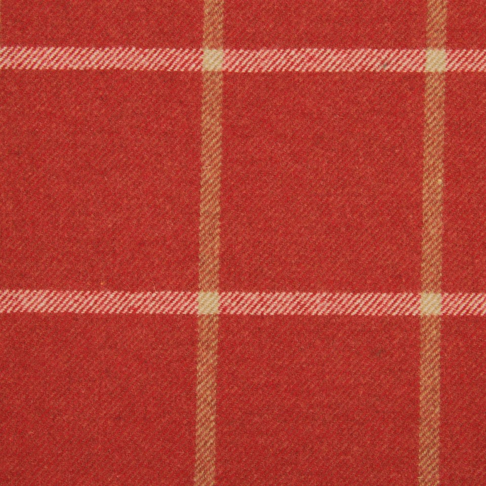 LACQUER RED Helios Plaid Fabric - Lacquer Red
