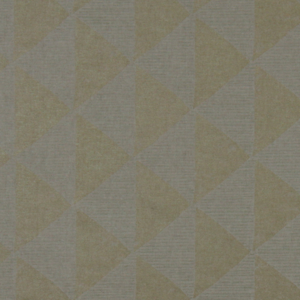 GOLD LEAF Gilt Triangles Fabric - Gold