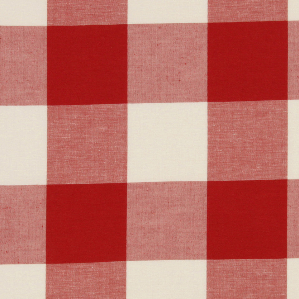 LACQUER RED Checkered Out Fabric - Lacquer Red