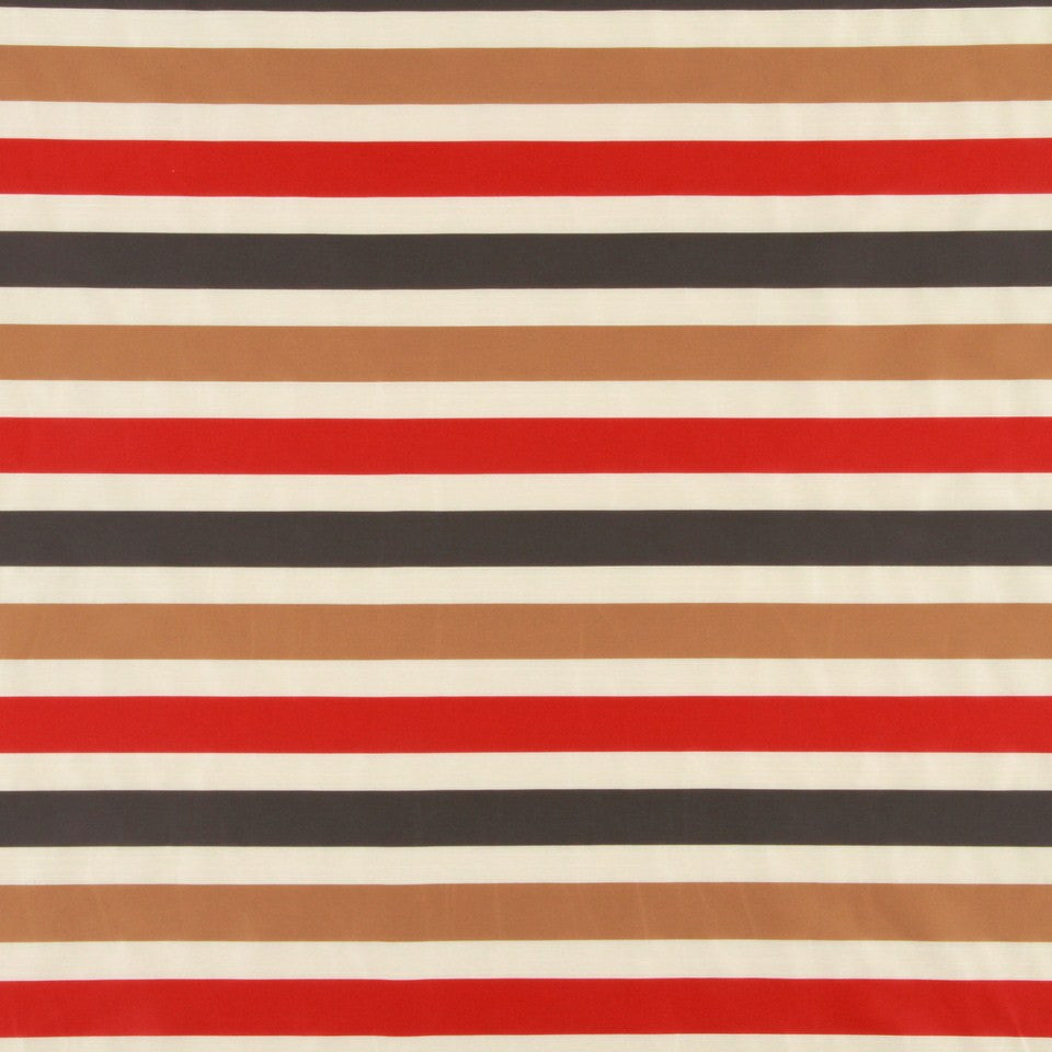LACQUER RED Vivid Stripe Fabric - Lacquer Red