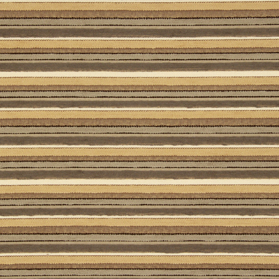 PERFORMANCE UPHOLSTERY/NANO-TEX  DURABLOCK/FAUX LEATHER Lavish Stripes Fabric - Shell
