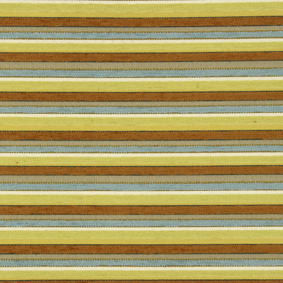 PERFORMANCE UPHOLSTERY/NANO-TEX  DURABLOCK/FAUX LEATHER Lavish Stripes Fabric - Spa