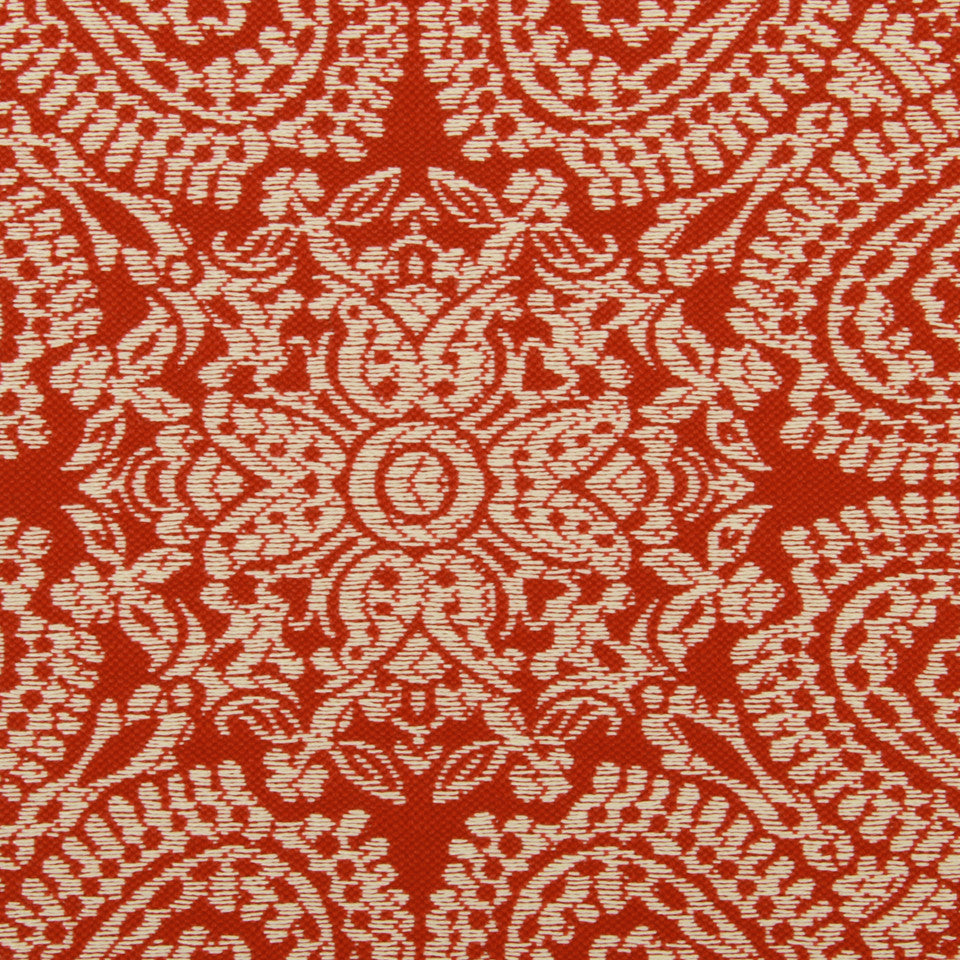 LACQUER RED Paisley Way Fabric - Lacquer Red