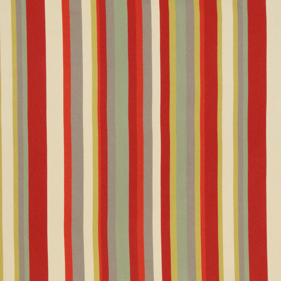 LACQUER RED Eos Stripe Fabric - Lacquer Red
