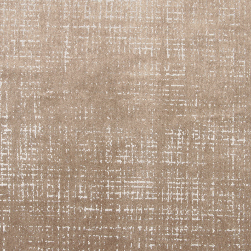DWELLSTUDIO DECORATIVE MODERN Etched Velvet Fabric - Dove