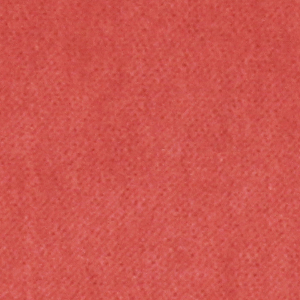 COTTON VELVETS Royal Comfort Fabric - Coral