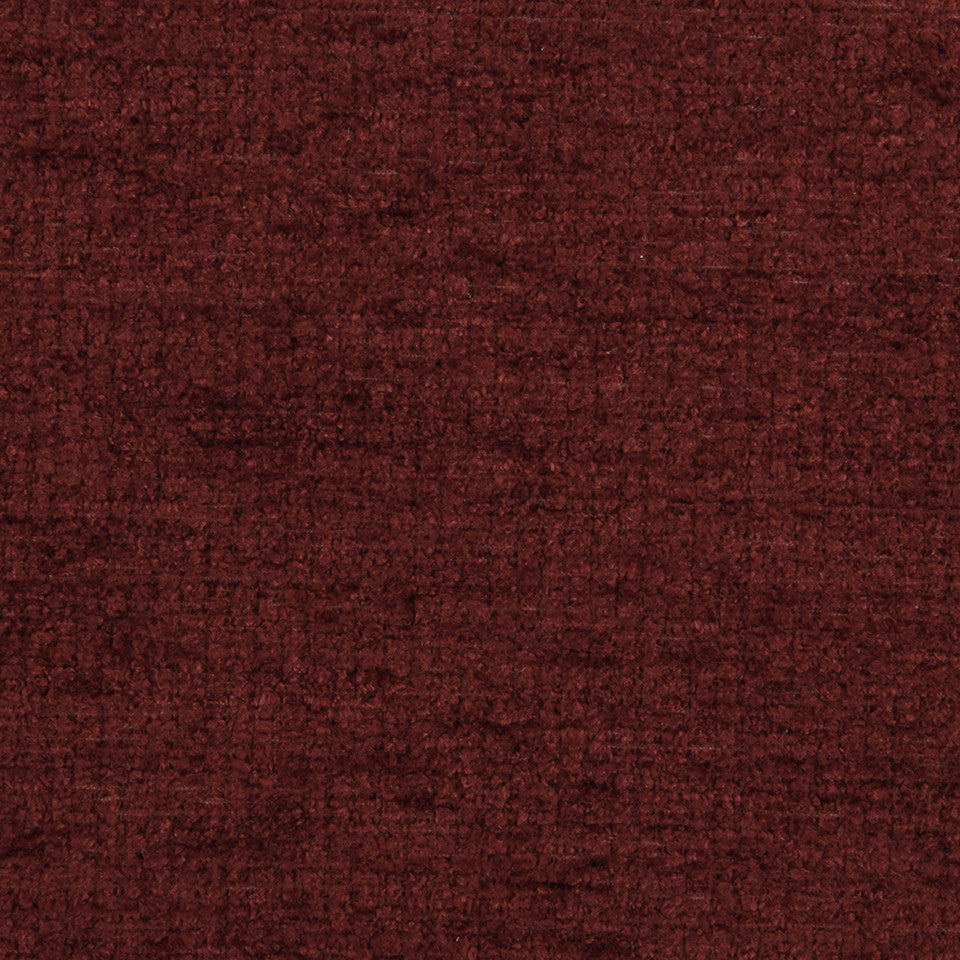 PLUSH CHENILLES Royal Chenille Fabric - Classic Crimson