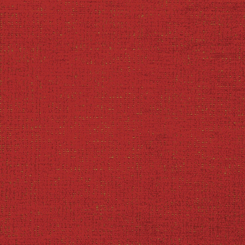 PLUSH CHENILLES Grand Chenille Fabric - Lacquer Red