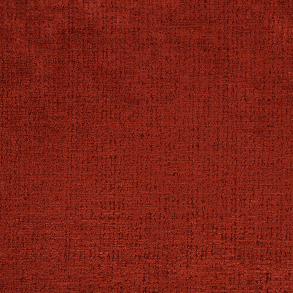 PLUSH CHENILLES Grand Chenille Fabric - Red Earth