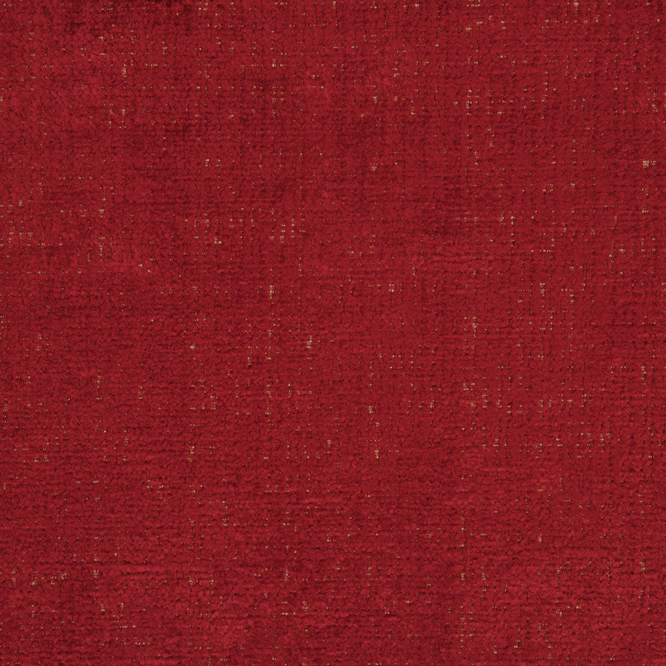 PLUSH CHENILLES Grand Chenille Fabric - Red Hot