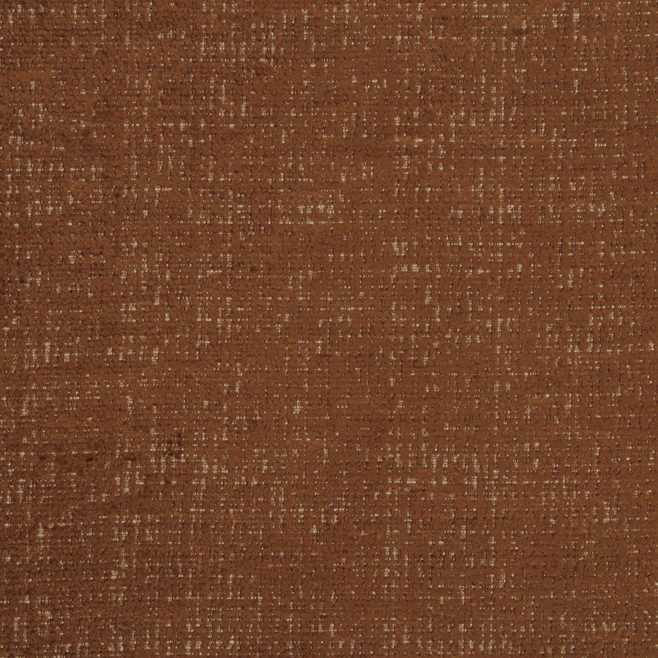PLUSH CHENILLES Grand Chenille Fabric - Saddle