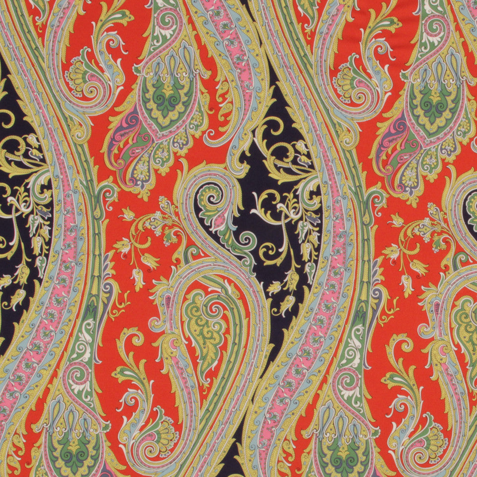NAVY BLAZER Fun Paisley Fabric - Navy Blazer