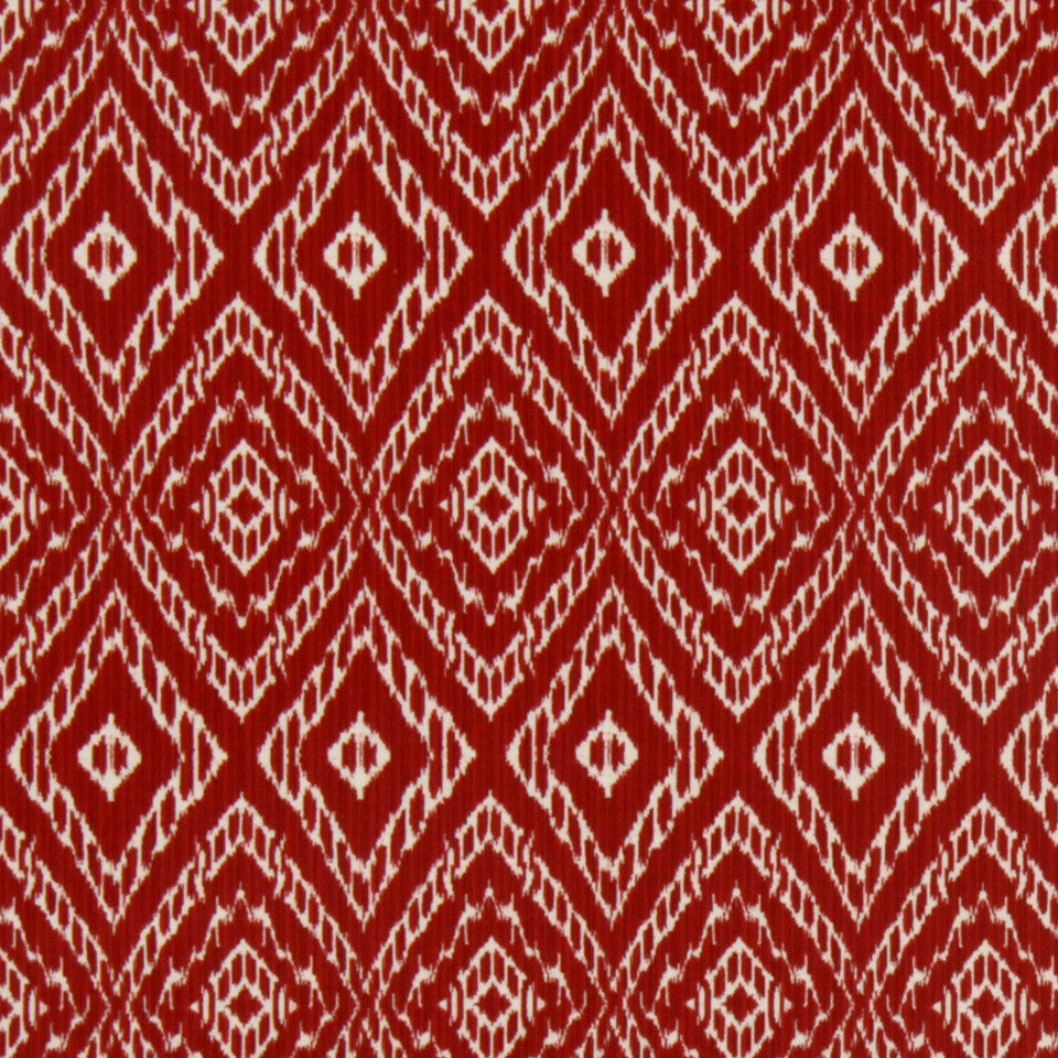 Strie Ikat Fabric - Poppy