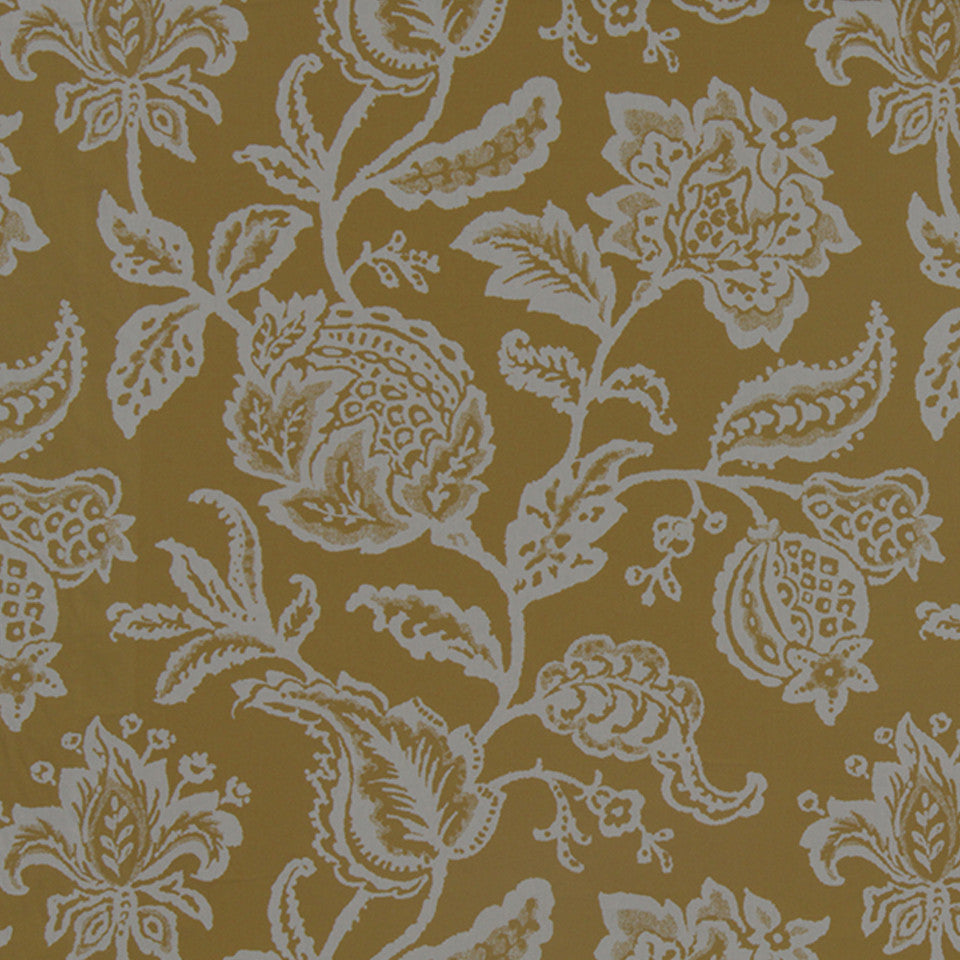 Jacobean Toss Fabric - Zest