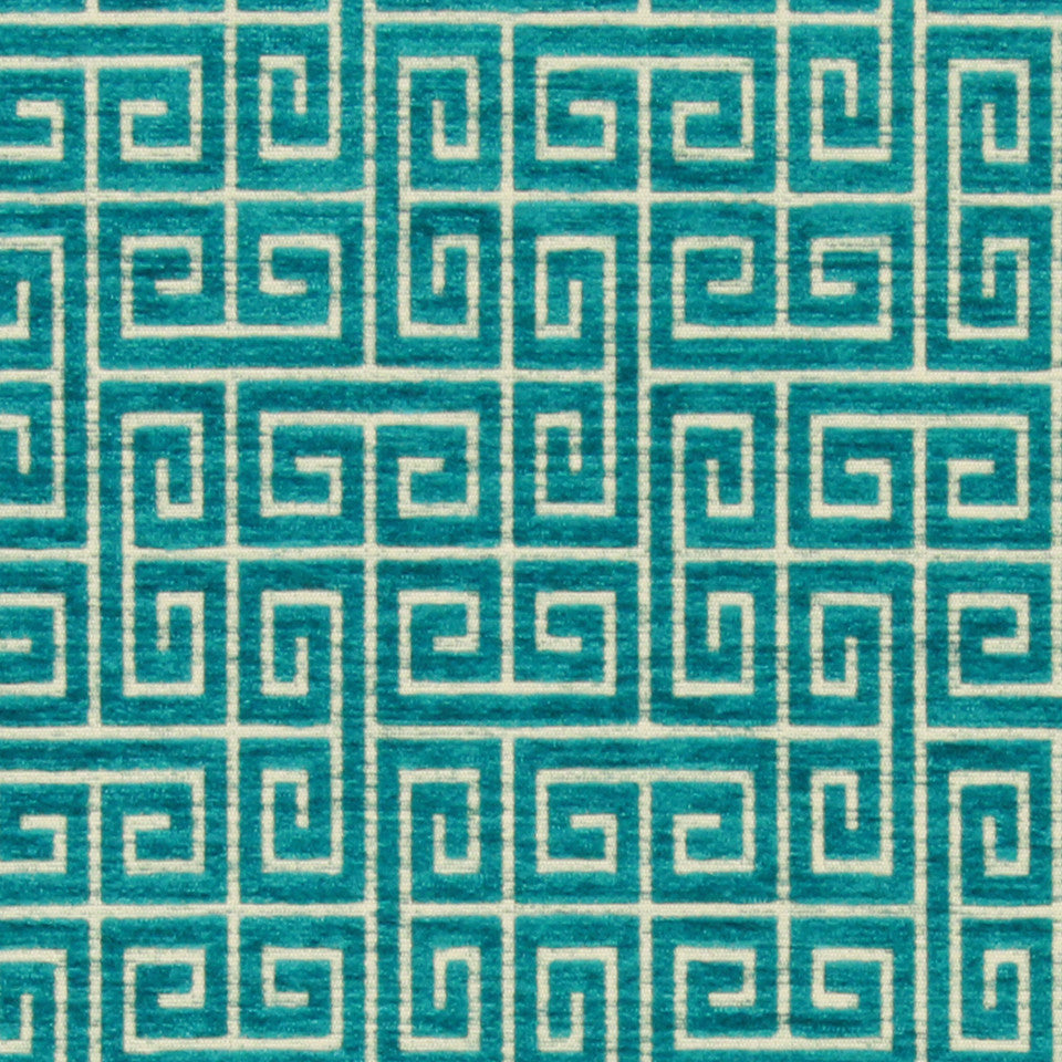 Plush Keys BK Fabric - Turquoise